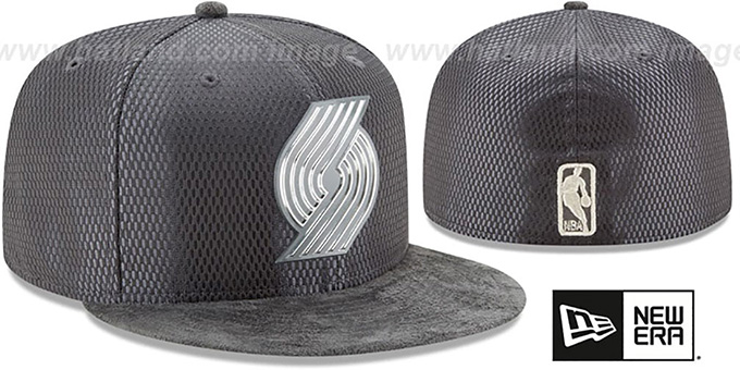 Trailblazers '2017 ONCOURT' Charcoal Fitted Hat by New Era