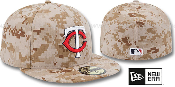 Twins 2013 'STARS N STRIPES' Desert Camo Hat by New Era