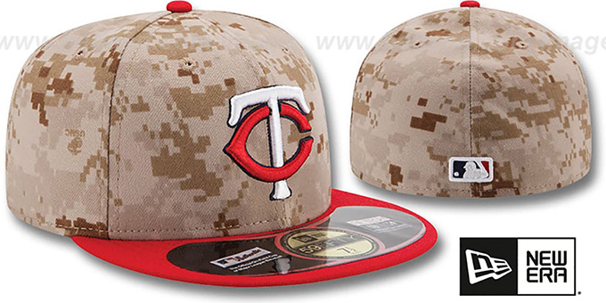 Twins '2014 STARS N STRIPES' Fitted Hat by New Era