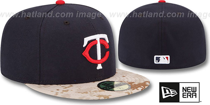 Twins '2015 STARS N STRIPES' Fitted Hat by New Era