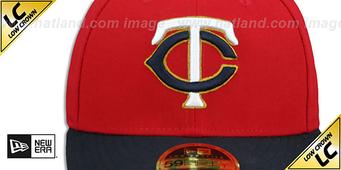 Twins 'LOW-CROWN' ALTERNATE-2 Fitted Hat by New Era