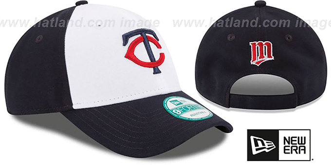 Twins 'THE-LEAGUE STRAPBACK' White-Navy Hat by New Era