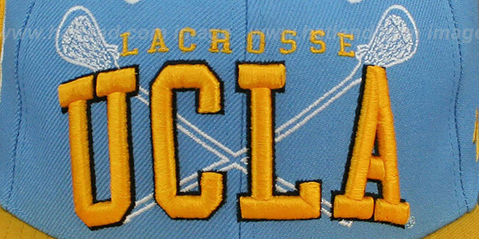 UCLA 'LACROSSE SUPER-ARCH SNAPBACK' Sky-Gold Hat by Zephyr