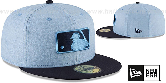 Umpire '2018 FATHERS DAY' Sky-Navy Fitted Hat by New Era