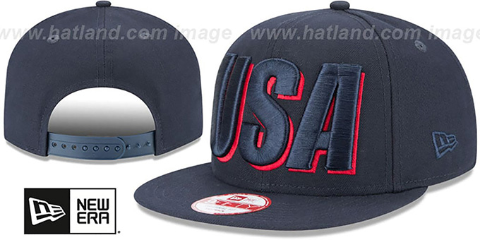 United States 'COUNTRY CHEER SNAPBACK' Navy Hat by New Era
