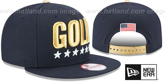 United States 'GOLD SNAPBACK' Navy Hat by New Era