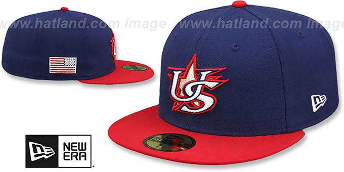 United States 'PERFORMANCE WBC-2' ROAD Hat by New Era