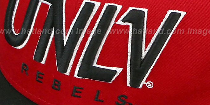 UNLV 'SNAP-IT-BACK SNAPBACK' Red-Black Hat by New Era