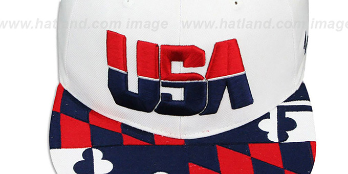 USA 'MARYLAND FLAG SNAPBACK' White Hat by Zephyr