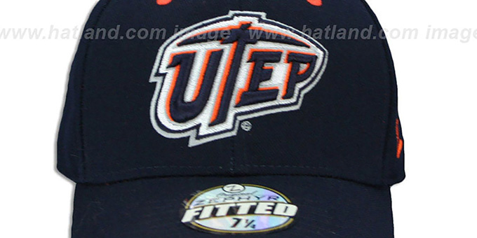 UTEP 'DHS' Navy Fitted Hat by Zephyr