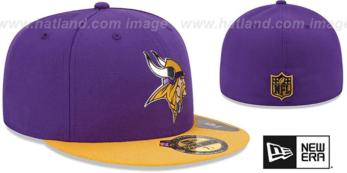 Vikings '2015 NFL DRAFT' Purple-Gold Fitted Hat by New Era