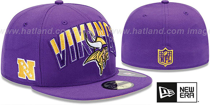aa7b62c2330f0 ... good vikings nfl 2013 draft purple 59fifty fitted hat by new era da3bd  229c3