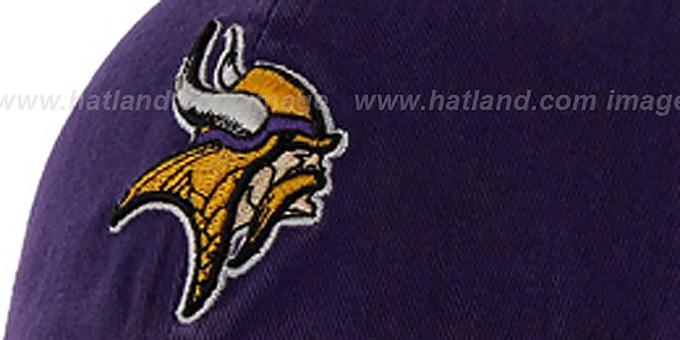 c465dd57b Minnesota Vikings NFL FRANCHISE Purple Hat by 47 Brand