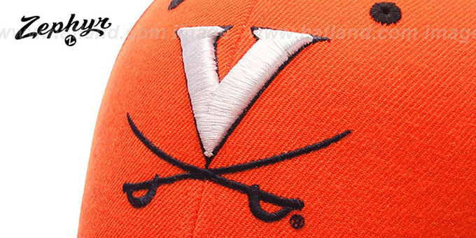 the best attitude e376e a81ea Virginia DH Orange Fitted Hat by Zephyr