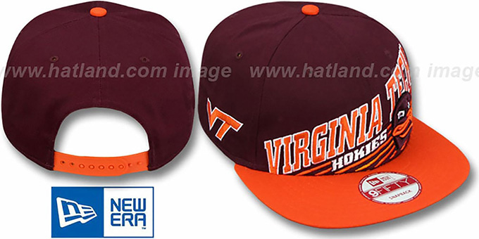 Virginia Tech 'STILL ANGLIN SNAPBACK' Burgundy-Orange Hat by New Era