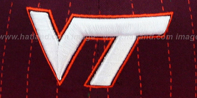 Virginia Tech 'TEAM-BASIC PINSTRIPE SNAPBACK' Burgundy-Orange Hat by New Era