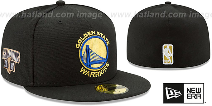 Warriors '2018 FINALS CHAMPIONS' Black Fitted Hat by New Era