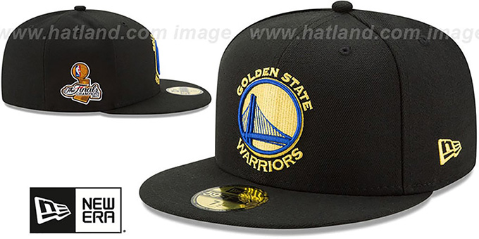 Warriors '2017 FINALS CHAMPIONS' Black Fitted Hat by New Era