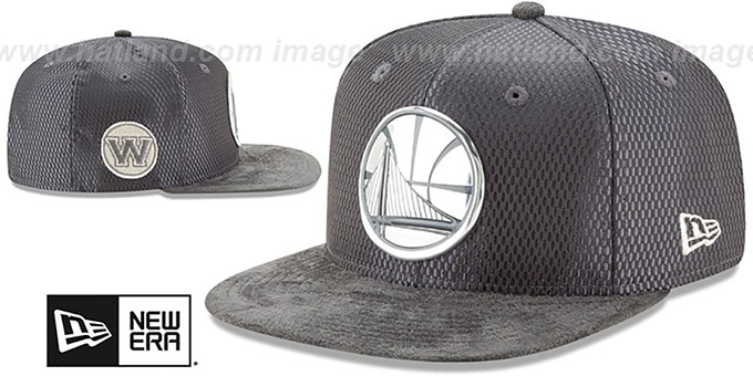 Warriors '2017 NBA ONCOURT SNAPBACK' Charcoal Hat by New Era