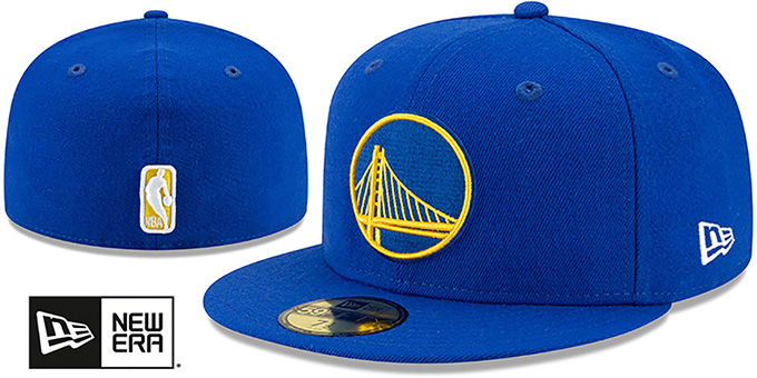 Warriors 'BANDANA KELLY BOTTOM' Royal Fitted Hat by New Era