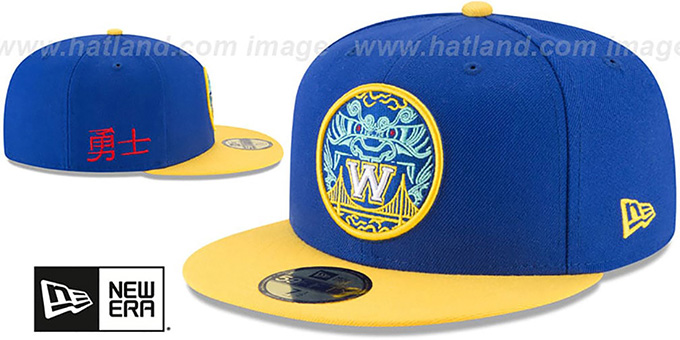 Warriors 'CITY-SERIES' Royal-Gold Fitted Hat by New Era
