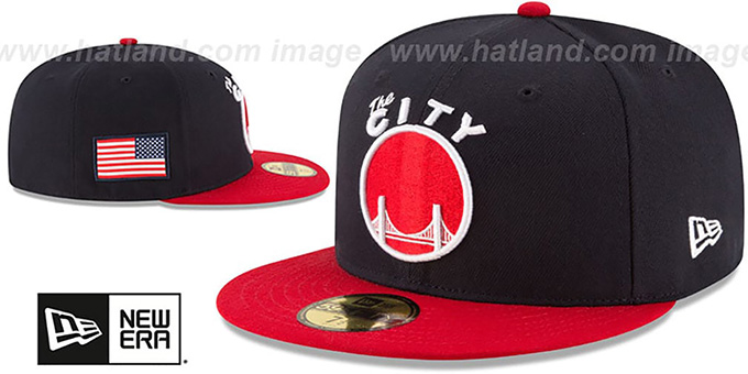 Warriors 'COUNTRY COLORS' Navy-Red Fitted Hat by New Era