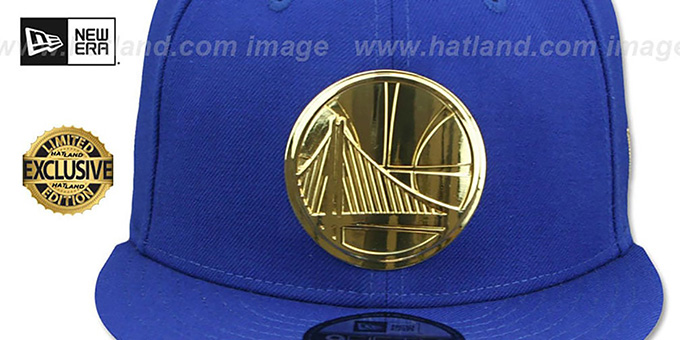 Warriors 'GOLD METAL-BADGE' Royal Fitted Hat by New Era
