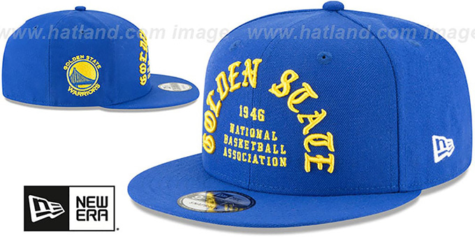 Warriors 'GOTHIC-ARCH SNAPBACK' Royal Hat by New Era