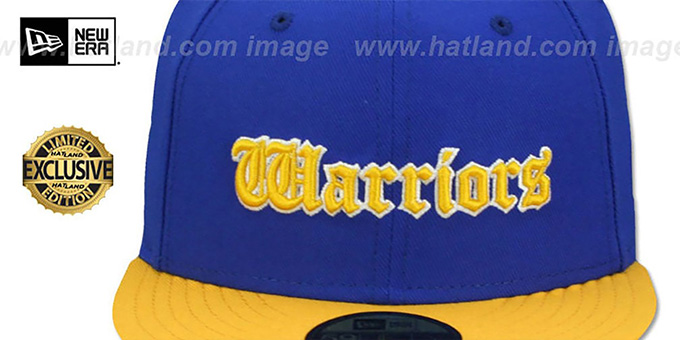Warriors 'GOTHIC TEAM-BASIC' Royal-Gold Fitted Hat by New Era