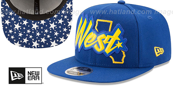Warriors 'NBA ALL-STAR CONFERENCE BEVEL SNAPBACK' Hat by New Era