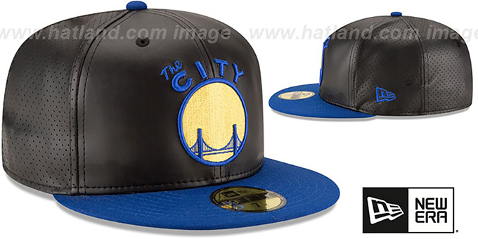Warriors 'PERFECTLY STATED'  Black-Royal Fitted Hat by New Era