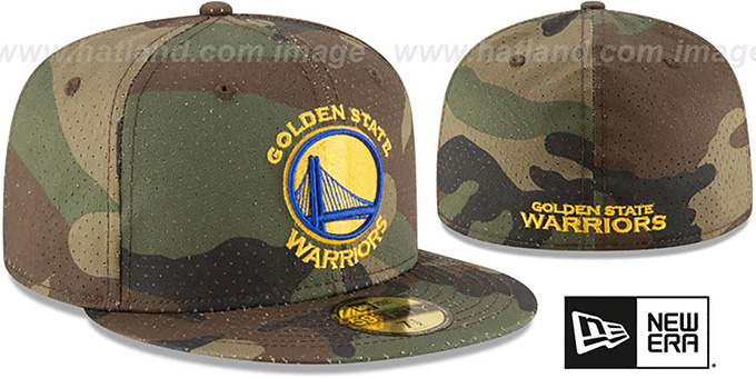 Warriors 'PERFORATED CAMO' Army Fitted Hat by New Era