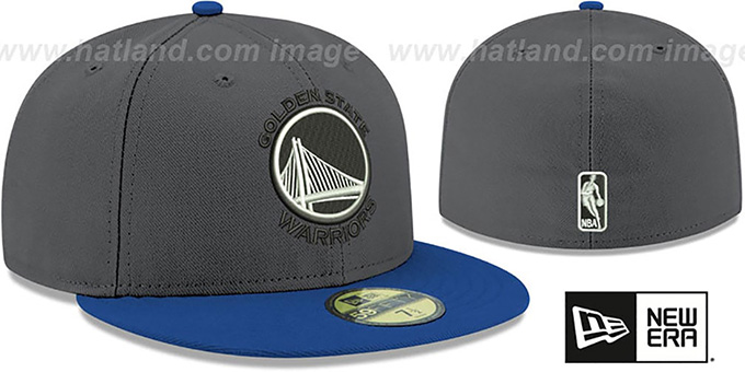 Warriors 'SHADER MELT-2' Grey-Royal Fitted Hat by New Era