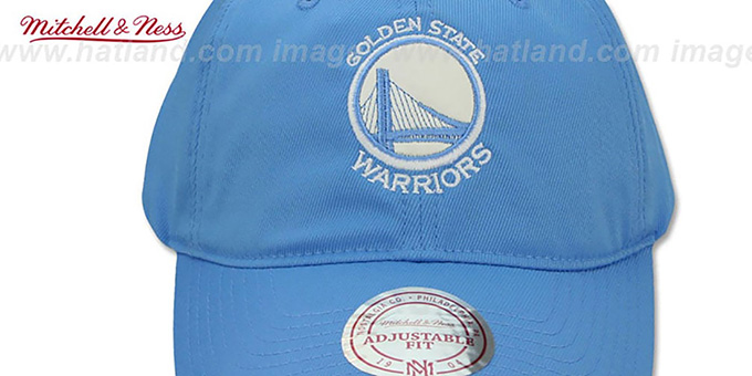 Warriors SLOUCH 'POWDER STRAPBACK' Hat Mitchell and Ness