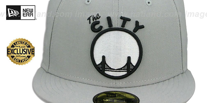 Warriors 'TEAM-BASIC' Grey-Black-White Fitted Hat by New Era