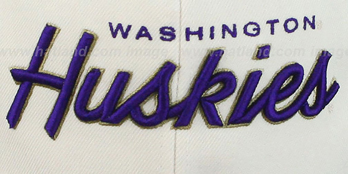 Washington '2T HEADLINER SNAPBACK' White-Purple Hat by Zephyr