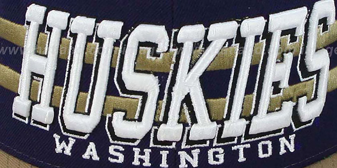 Washington '2T SUPERSONIC SNAPBACK' Purple-Gold Hat by Zephyr