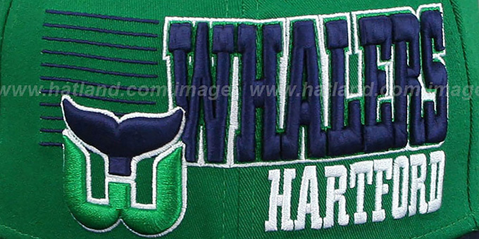 Whalers '2T BORDERLINE SNAPBACK' Green-Navy Hat by New Era