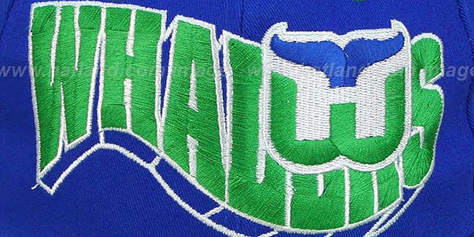 Whalers '2T FLASHBACK SNAPBACK' Royal-Green Hat by Zephyr