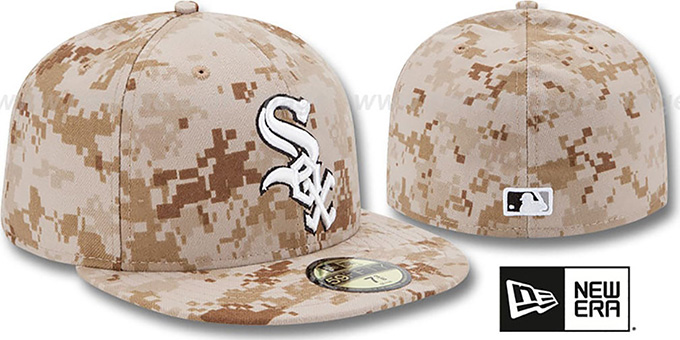 White Sox 2013 'STARS N STRIPES' Desert Camo Hat by New Era