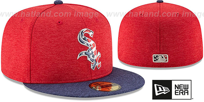 574470df6d251a ... White Sox '2017 JULY 4TH STARS N STRIPES' Fitted Hat by New Era ...