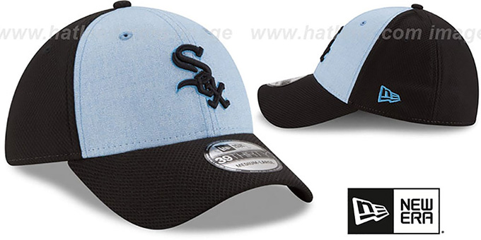 56e99bed66d ... White Sox  2018 FATHERS DAY FLEX  Sky-Black Hat by New Era ...