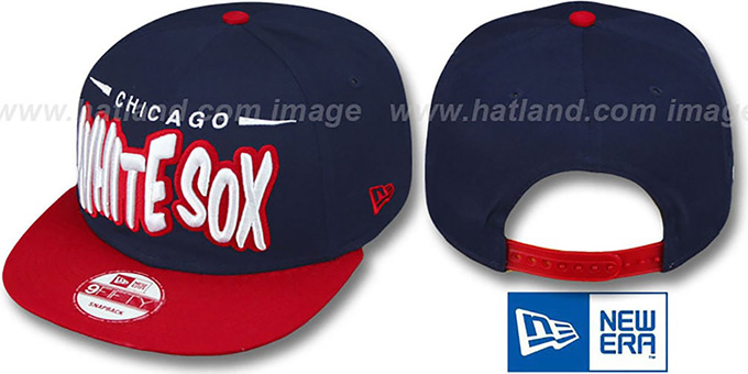 White Sox '2T COOP DOPETASTIC SNAPBACK' Navy-Red Hat by New Era