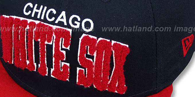 White Sox COOP 'CHENILLE-ARCH SNAPBACK' Navy-Red Hat by New Era
