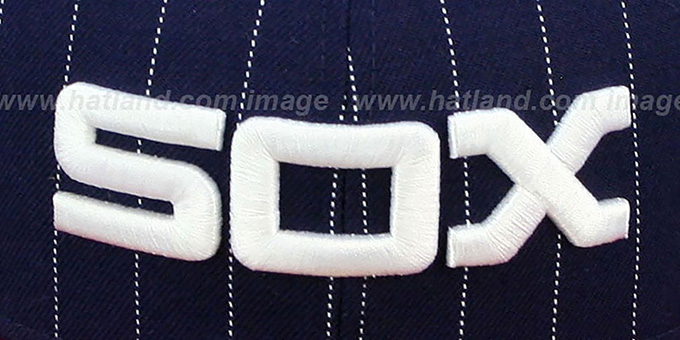 White Sox COOP 'PIN-SCRIPT' Navy-Red Fitted Hat by New Era