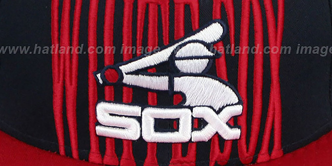 White Sox COOP 'STEP-ABOVE SNAPBACK' Navy-Red Hat by New Era