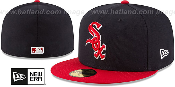 White Sox 'COUNTRY COLORS' Navy-Red Fitted Hat by New Era