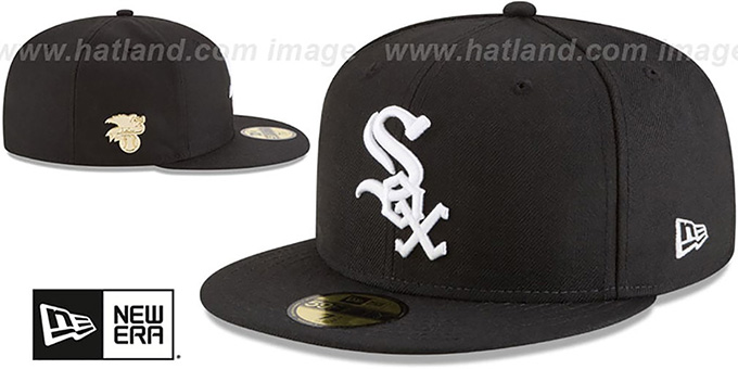 White Sox 'GILDED TURN' Black Fitted Hat by New Era