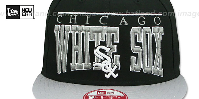 White Sox 'LE-ARCH SNAPBACK' Black-Grey Hat by New Era