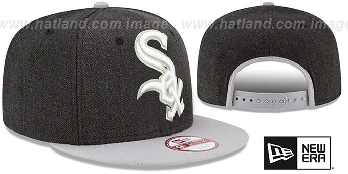 White Sox 'LOGO GRAND SNAPBACK' Charcoal-Grey Hat by New Era